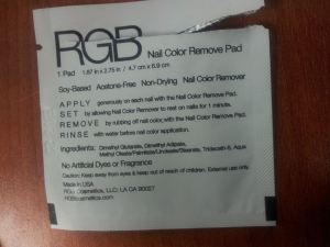 RGB Nail Color Remover Pad Instructions